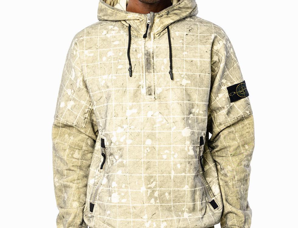 Stone Island Dust-Coloured Hooded Sweatshirt