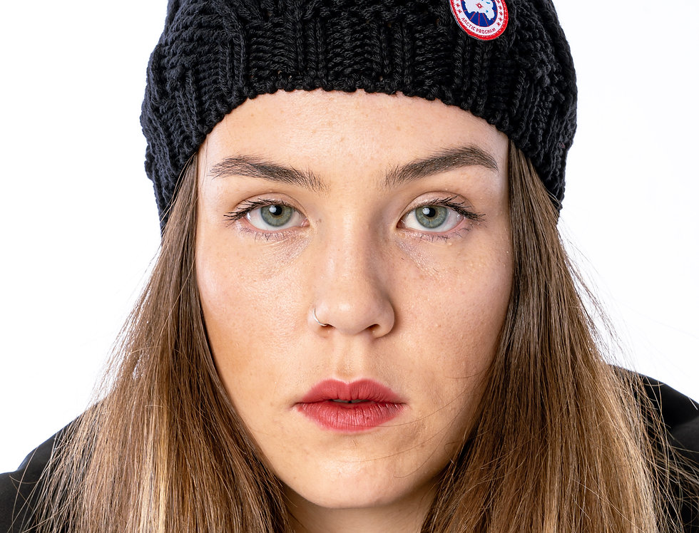 Canada Goose Chunky Cable Knit Beanie In Black
