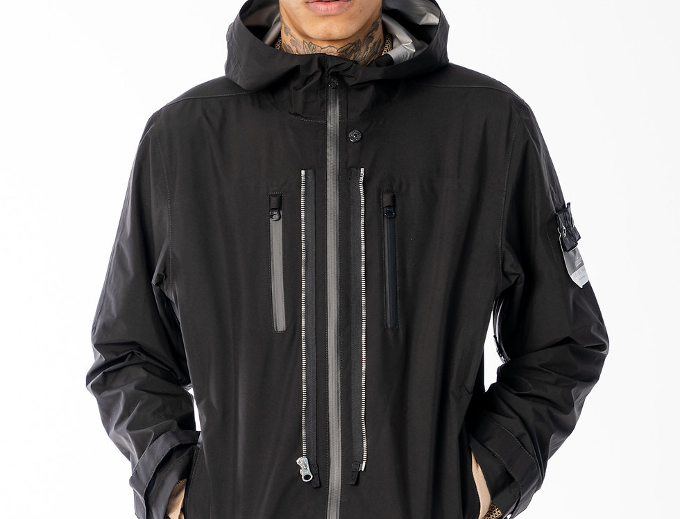 Stone Island Shadow Project Twin Zip Gore-Tex Paclite Jacket In Black