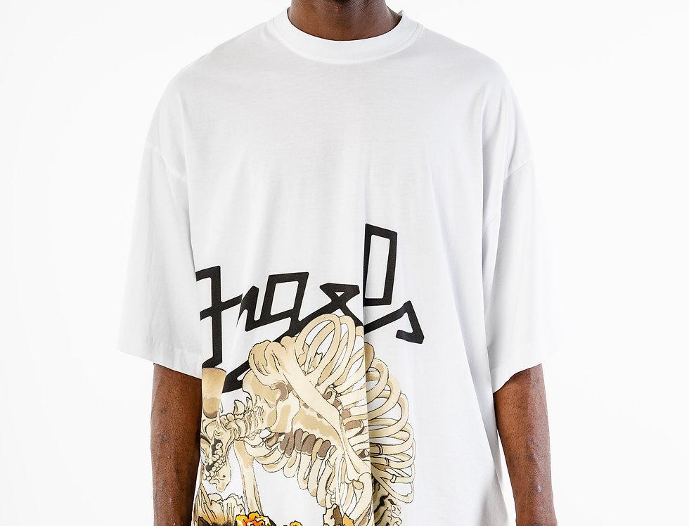 Palms Angels White Desert Skull T-shirt