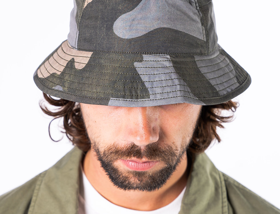 C.P. Company Camo Bucket Hat front view