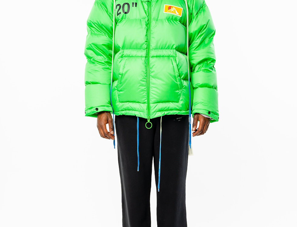 OFF-WHITE™️ AW20 Green Puffer Jacket front view