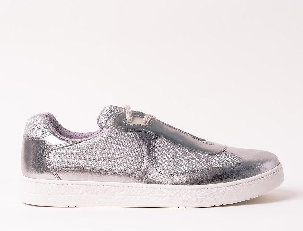 Prada Americas Cup 2019 Sneakers In Silver On Silver