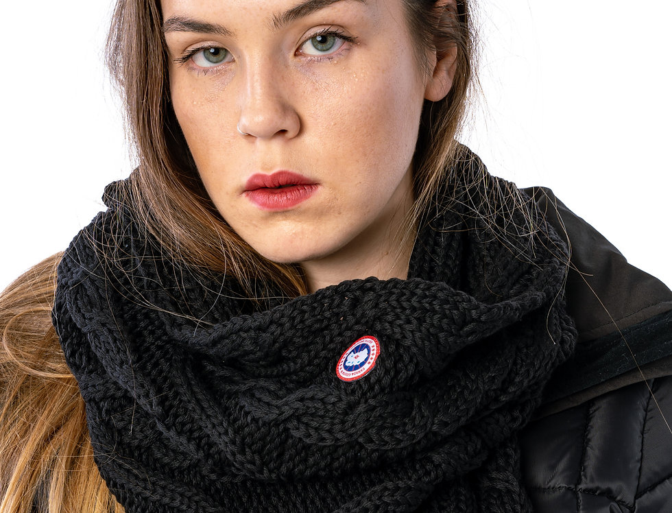 Canada Goose Chunky Cable Snood In Black