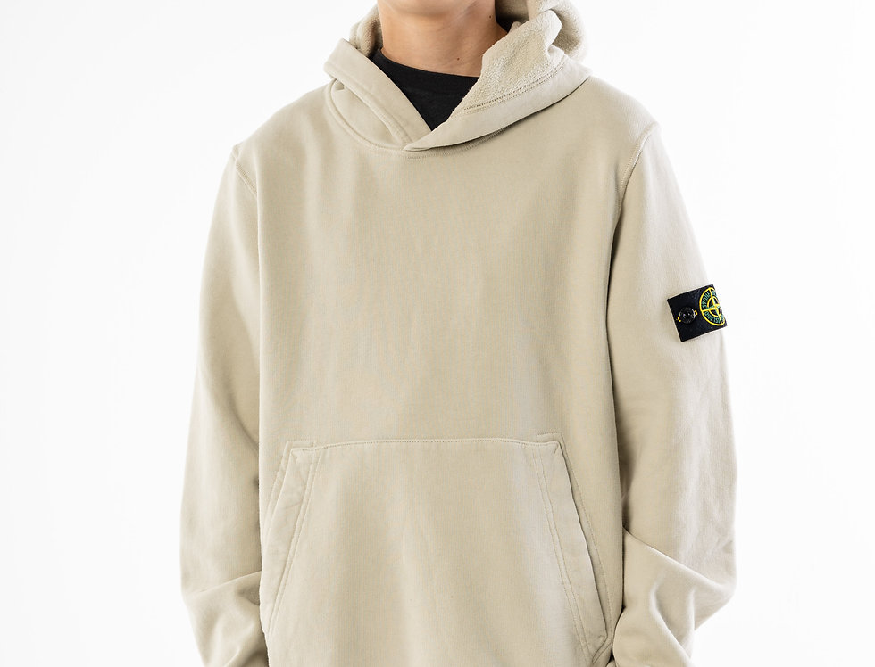 Stone Island Junior Cream Hooded Sweatshirt