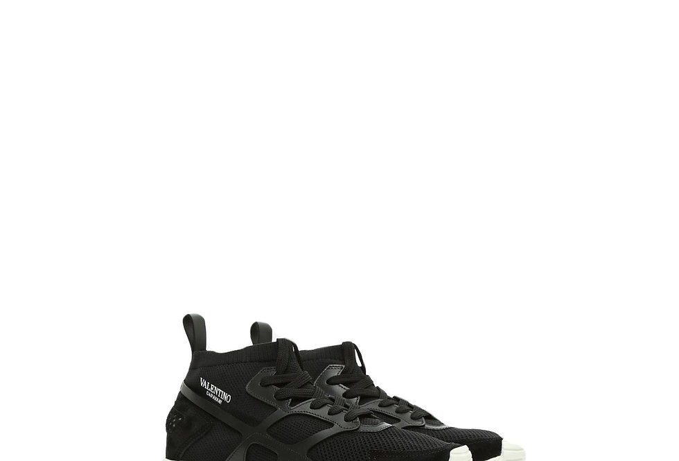 Valentino High Sock Trainer side view