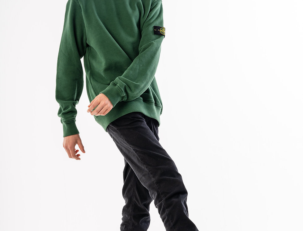 Stone Island Junior Green Sweatshirt