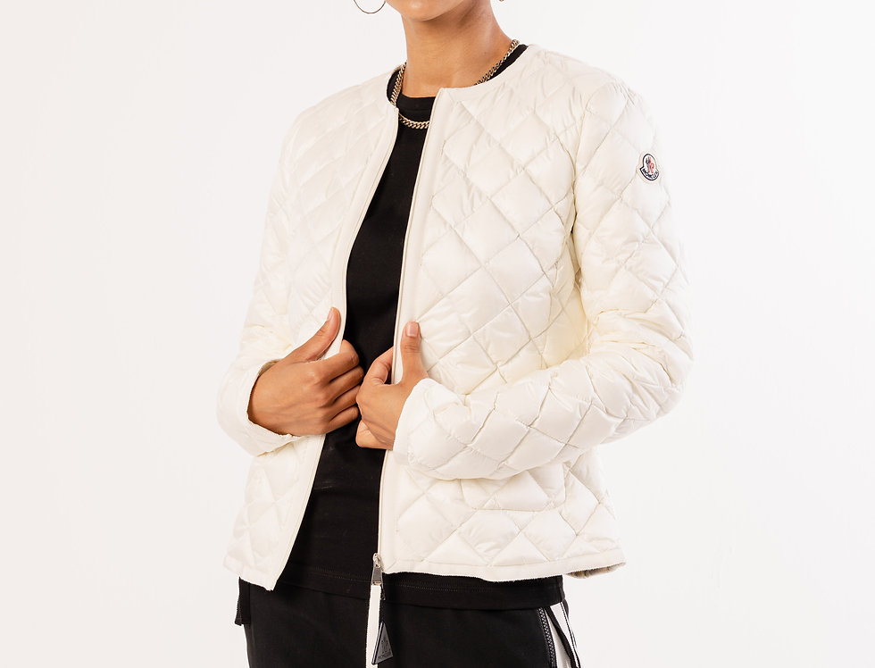 Moncler Quilted Jacket In White