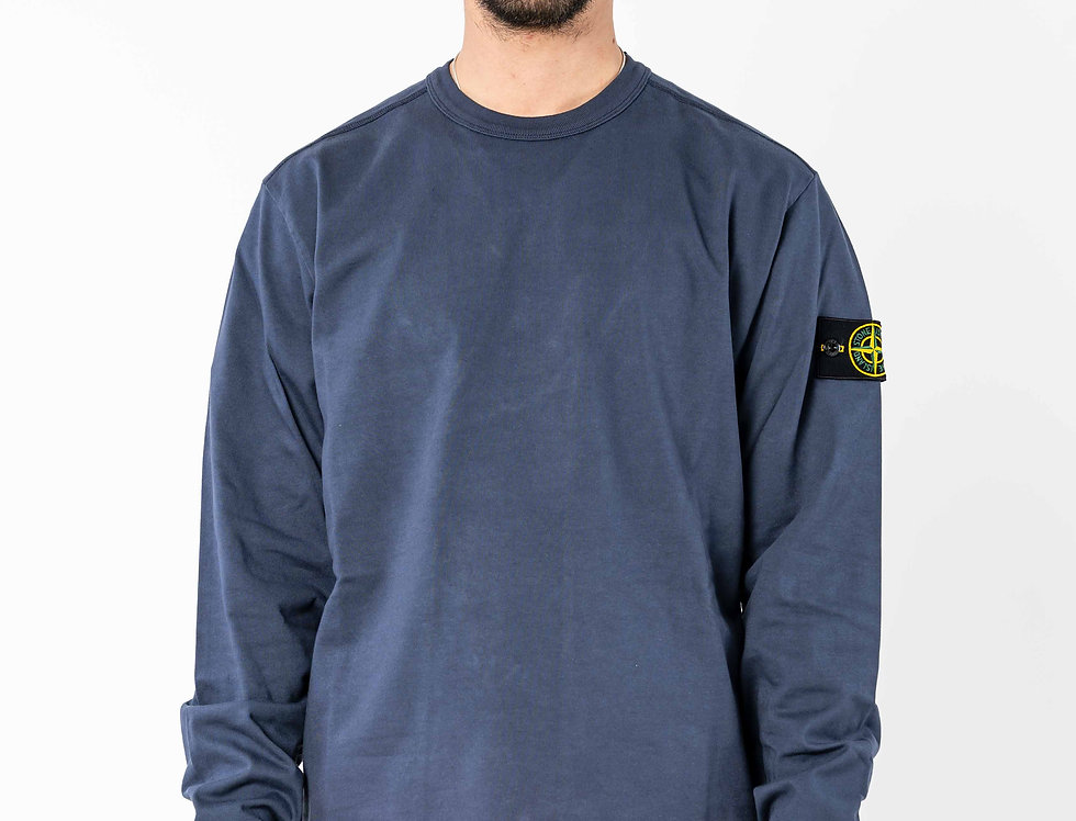 Stone Island Long Sleeve Top In Navy