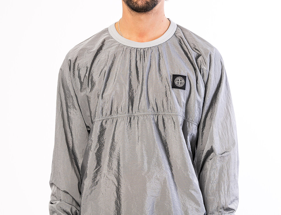 Stone Island Nylon Metal Crewneck In Grey