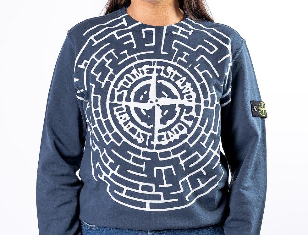 Stone Island Junior - Blue Maze Sweatshirt front view