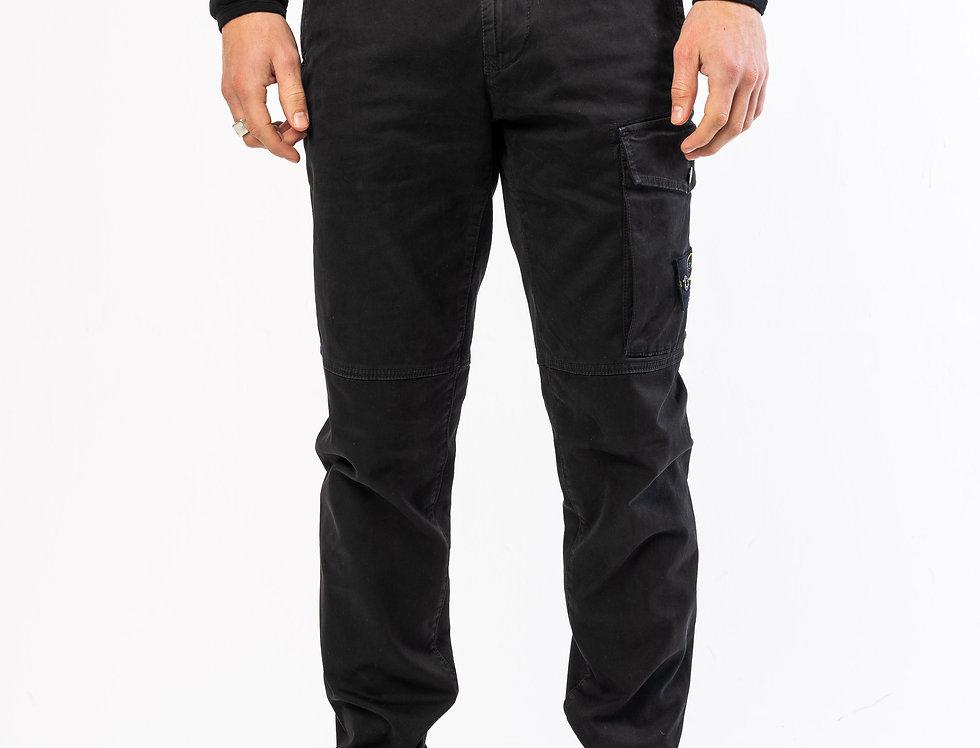 Stone Island Cargo Pants In Black
