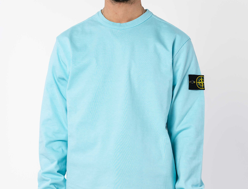 Stone Island Long Sleeve Top In Turquoise
