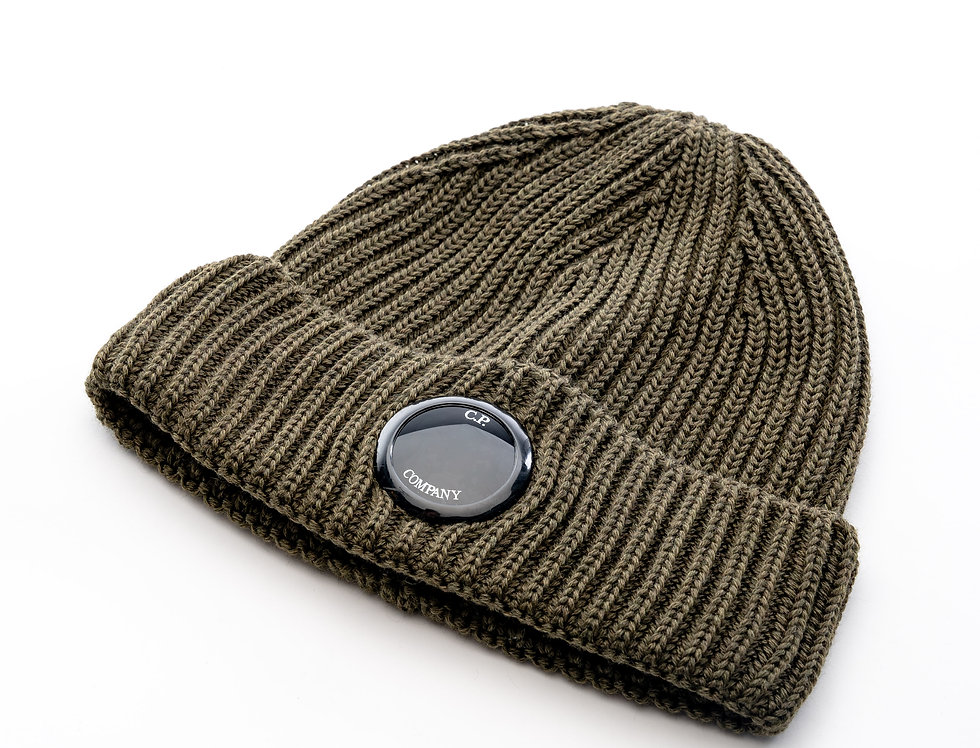 C.P. Company AW20 Single Lens Knit Hat In Ivy Green