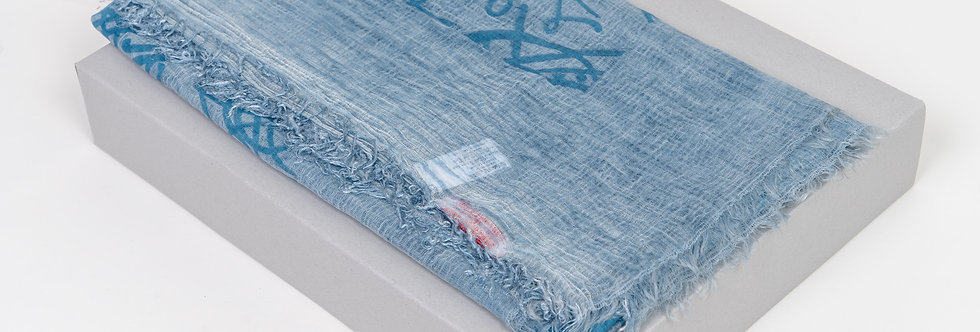 Vivienne Westwood Scarf In Light Blue front view