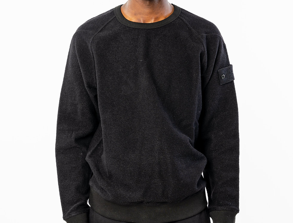 "Stone Island "" Ghost"" Sweatshirt in Black"