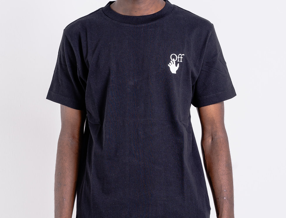 OFF-WHITE™️ AW20  Hand Print T-Shirt In Black