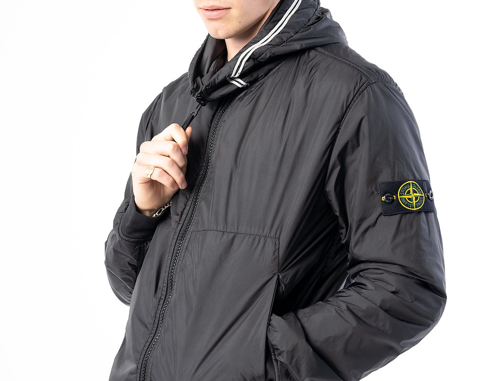 Stone Island Garment Dyed Crinkle Reps NY With Primaloft In Black