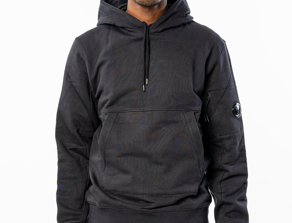 C.P. Company Hooded Sweatshirt In Black front view
