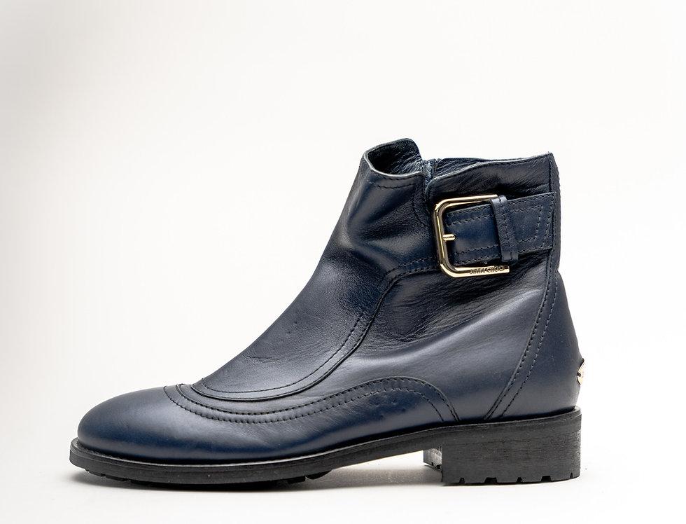 Jimmy Choo Ladies Brylee Flat Boot In Navy Leather