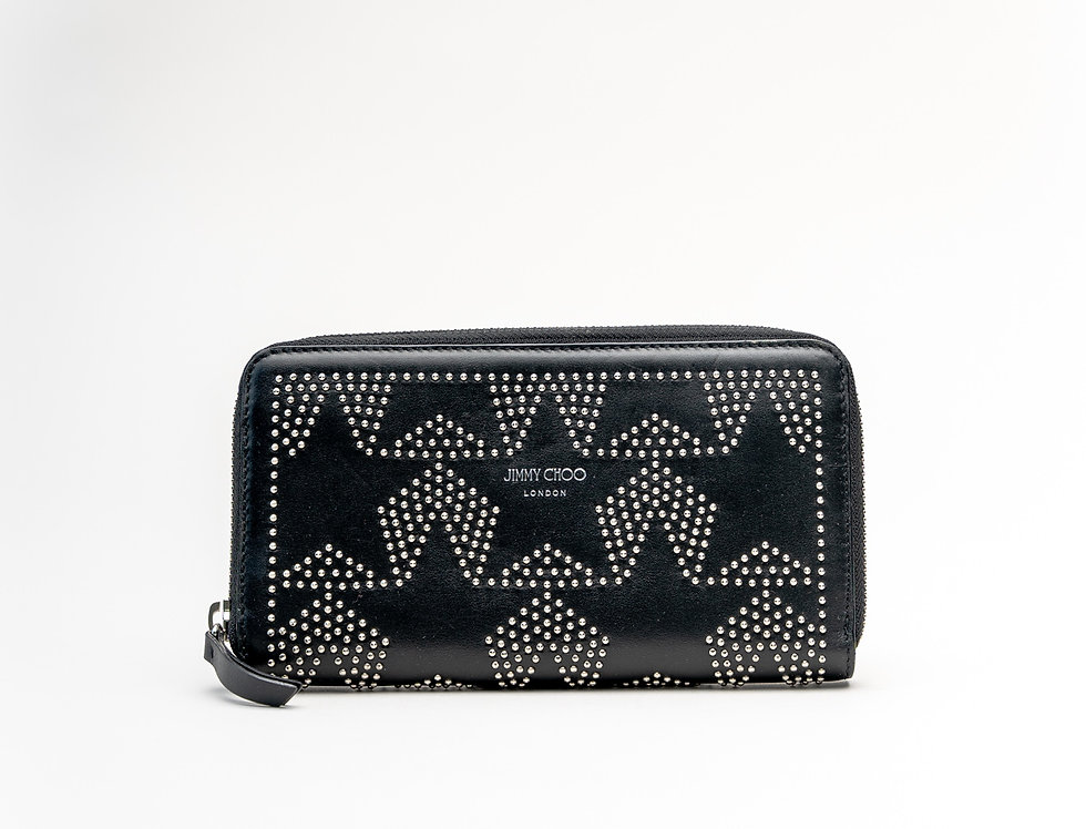 Jimmy Choo Pippa Wallet In Black Leather
