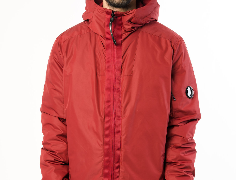 C.P. Company Zip Up Lens Jacket In Red
