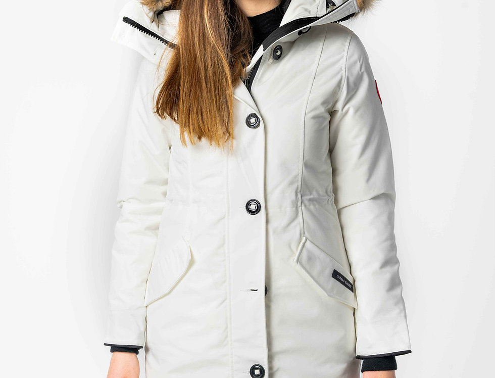 Canada Goose Rossclair Parka In North Star White