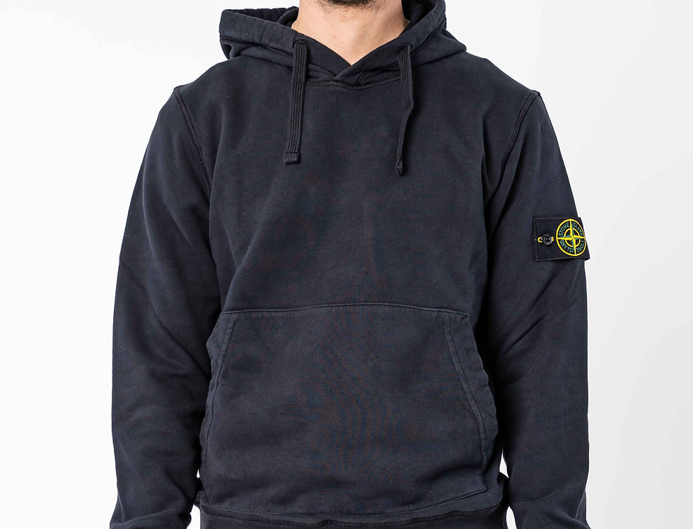 Stone Island Navy Hooded Sweatshirt