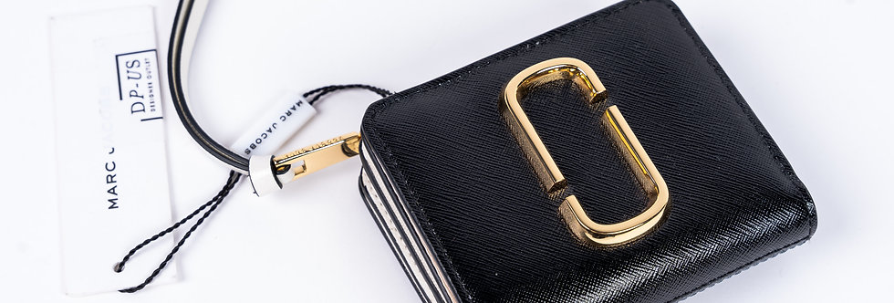 Marc Jacobs Gold Stamp Wallet Front View