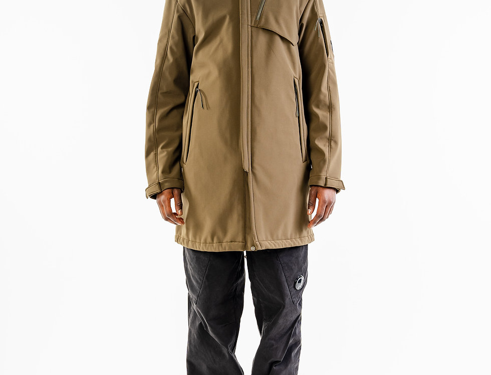 C.P. Company AW20 Soft Shell Lens Jacket In Olive