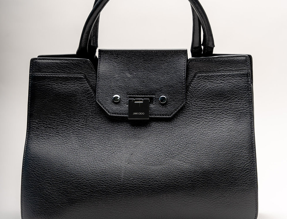 Jimmy Choo Rebel Tote Bag in Black Leather
