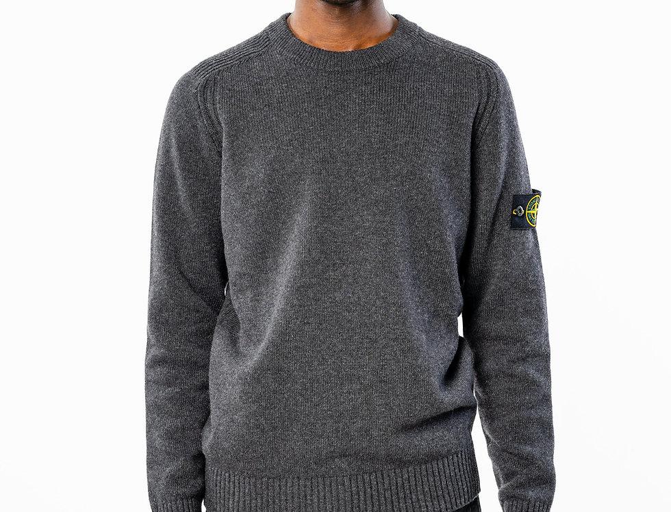 Stone Island Grey Knitted Sweater