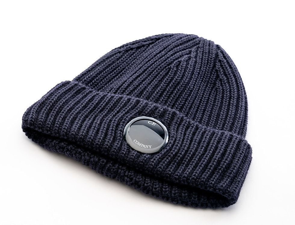 C.P. Company AW20 Single Lens Knit Hat In Navy