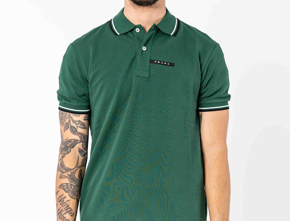 Prada Polo In Racing Green