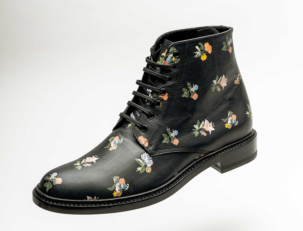 Saint Laurent Paris Ladies Flower Boot