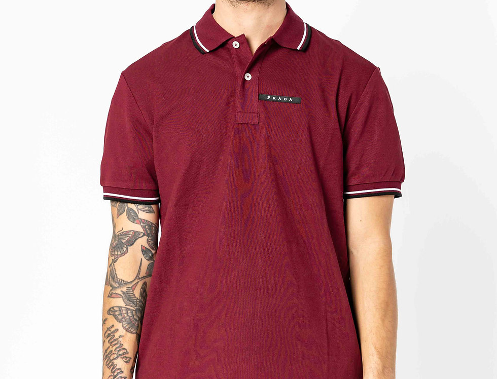 Prada Polo In Burgundy