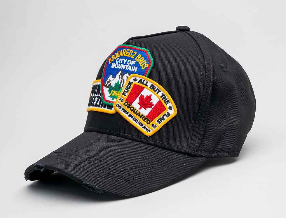 """Dsquared2 """"Flag Patches"""" Cap In Pink"""