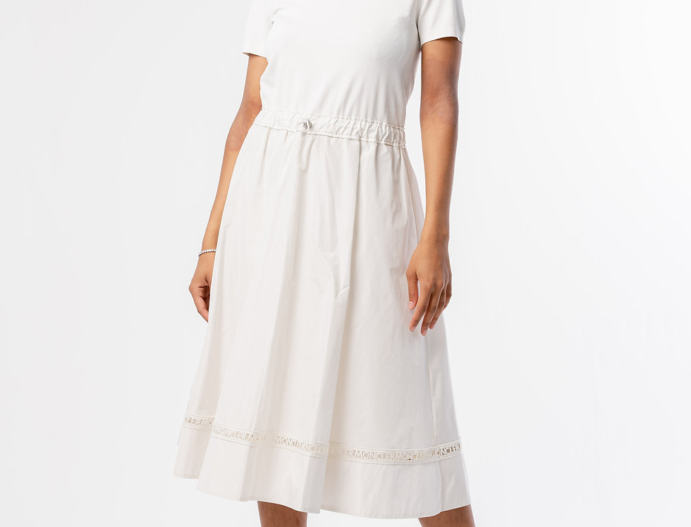 Moncler Abito Dress  In White