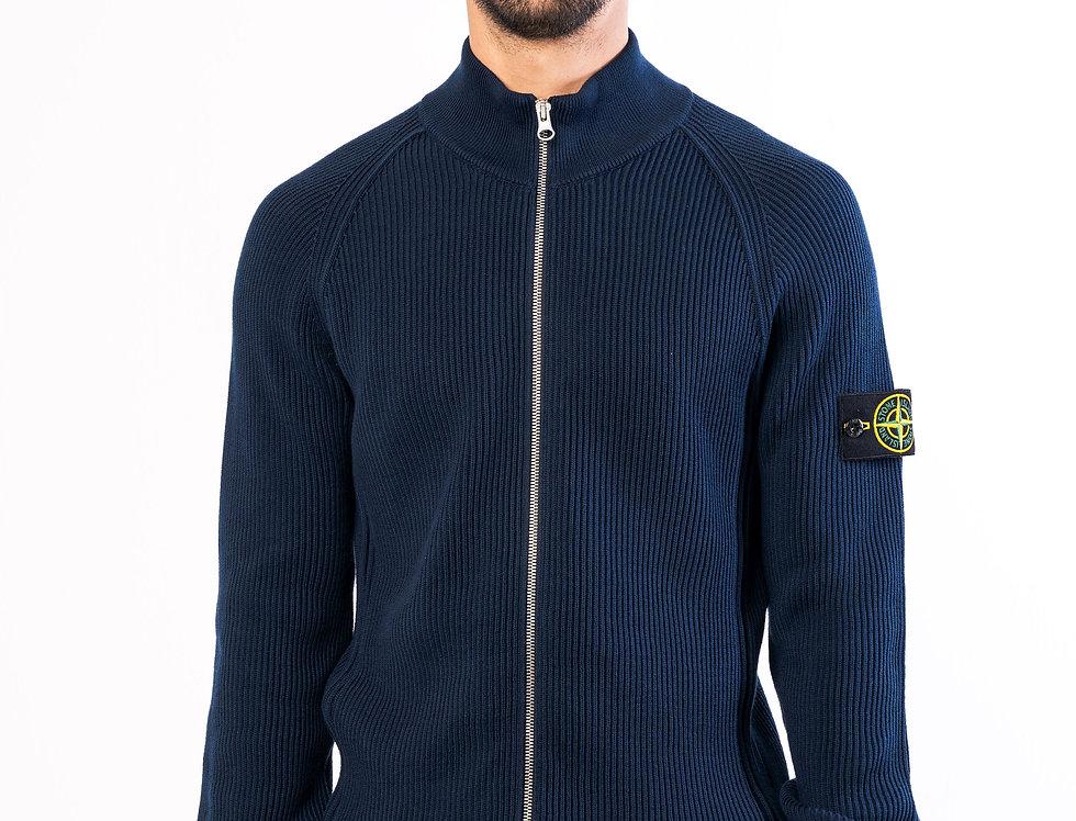 Stone Island Zipped chunky knit In Navy