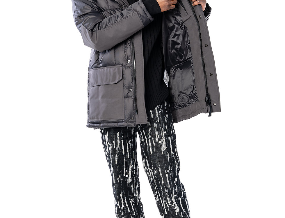 Canada Goose Callaghan Parka In Graphite (Black Label) front view