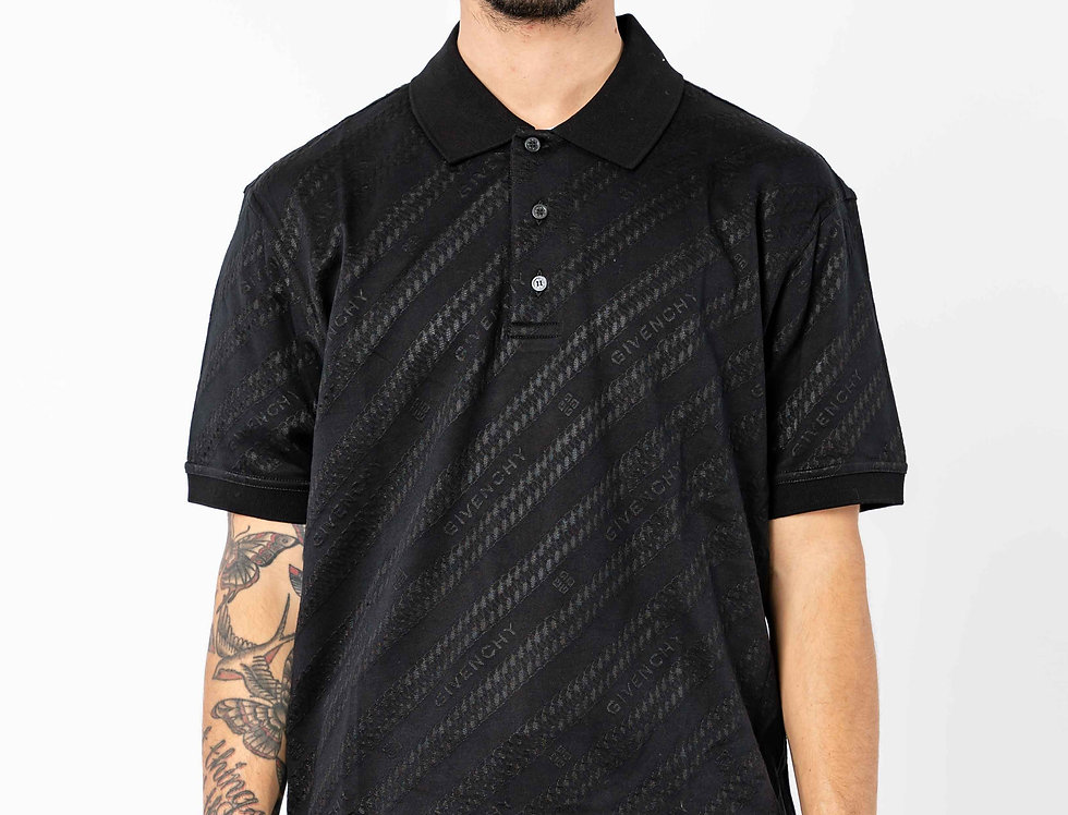 Givenchy Jacquard Polo In Black