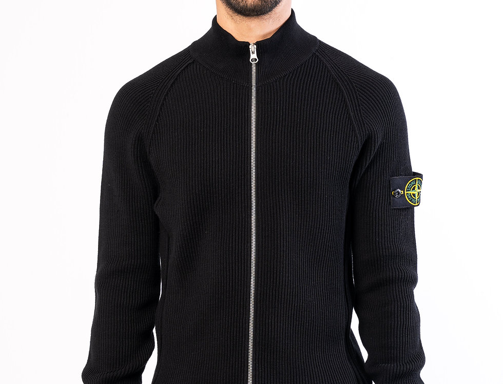 Stone Island Zipped chunky knit in Black