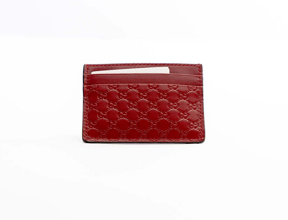 Gucci Card Holder Red