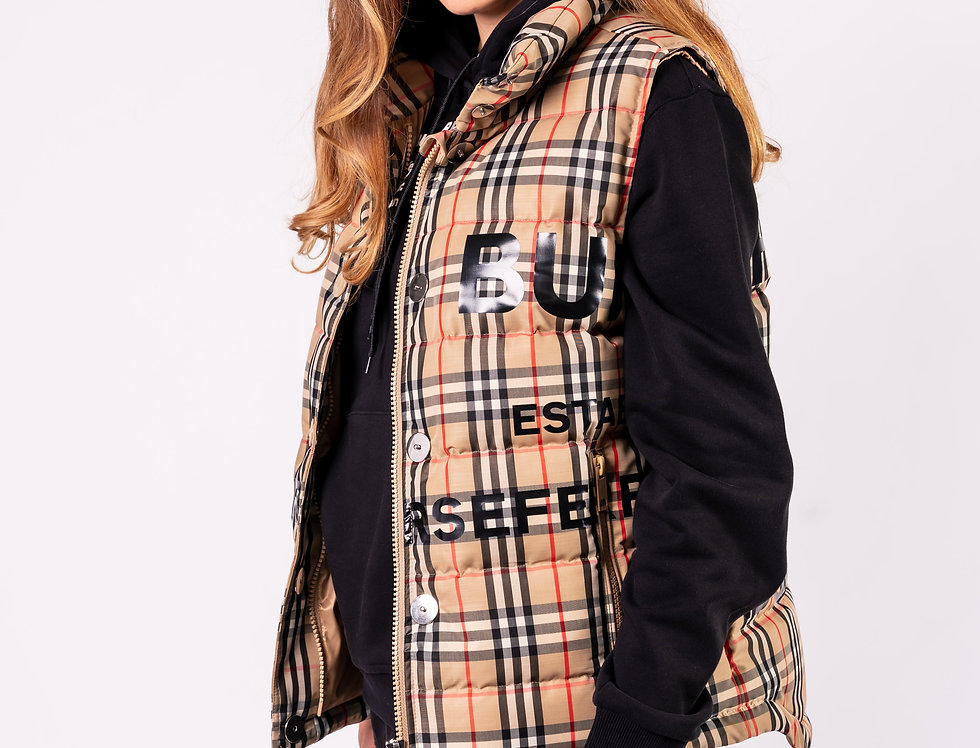 Burberry - Ladies Gilet In Classic Check front view