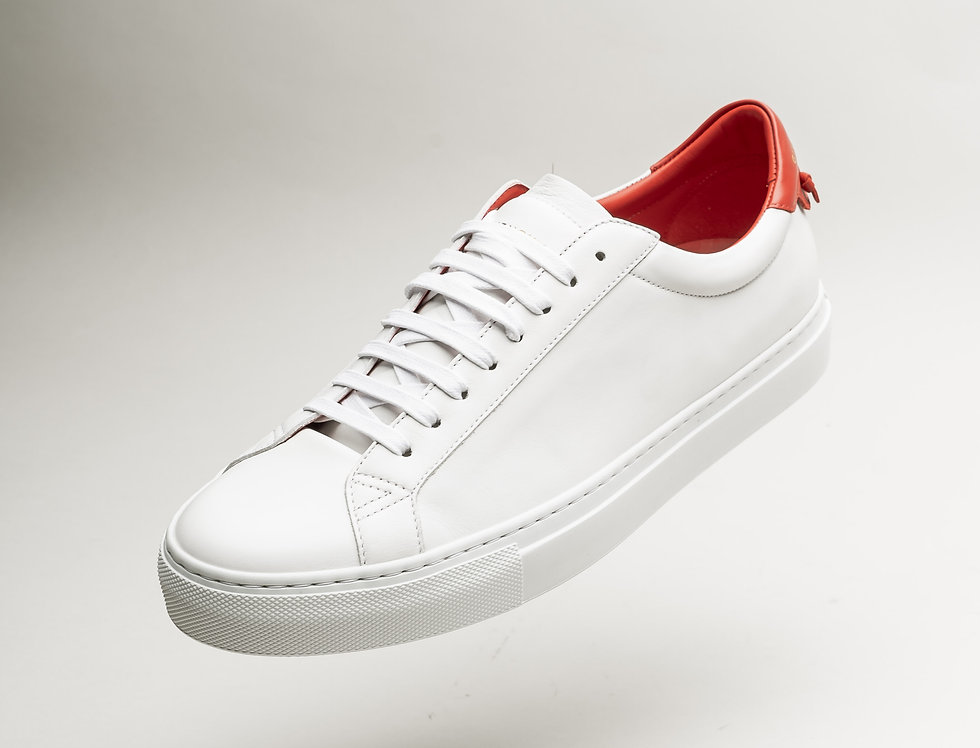 Givenchy Low Sneaker In White and Red