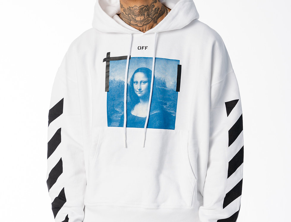 Off-White Monalisa Hoodie In White And Black