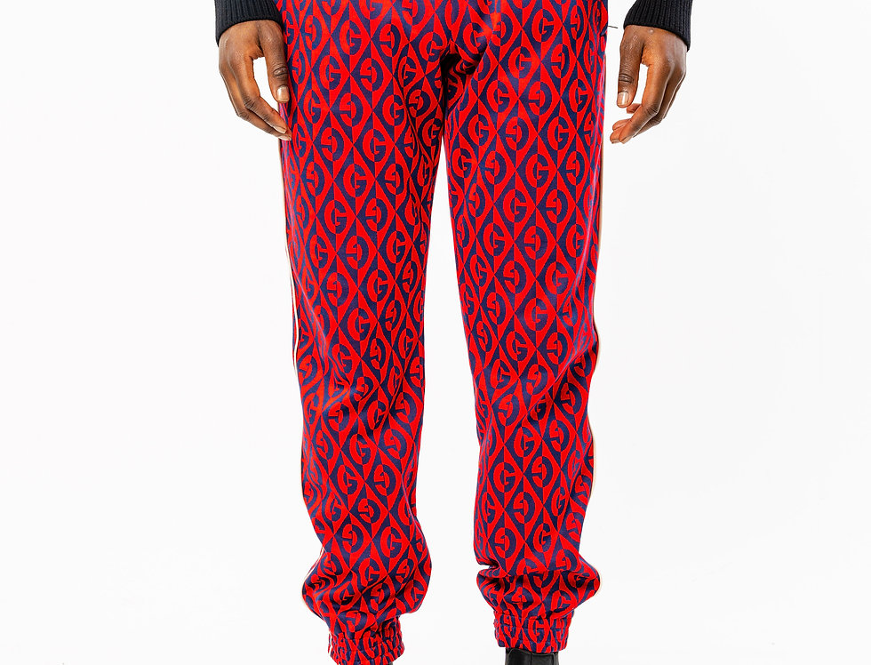 Gucci Red And Blue G Rhombus Sweatpants