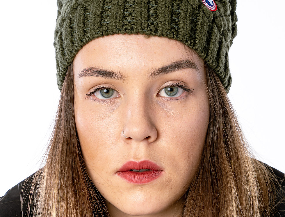 Canada Goose Basket Weave Slouchy In Military Green