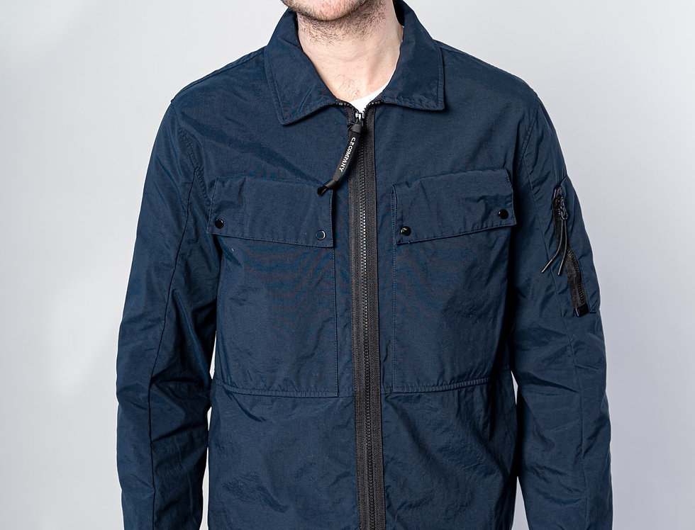 C.P. Company SS21 Taylon P Garment Dyed Utility Overshirt in Total Eclipse