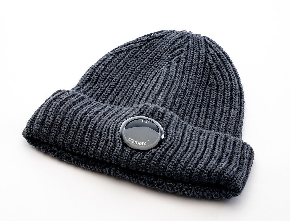 C.P. Company AW20 Single Lens Knit Hat In Grey